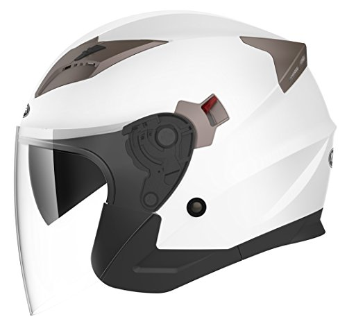 Casco jet blanco