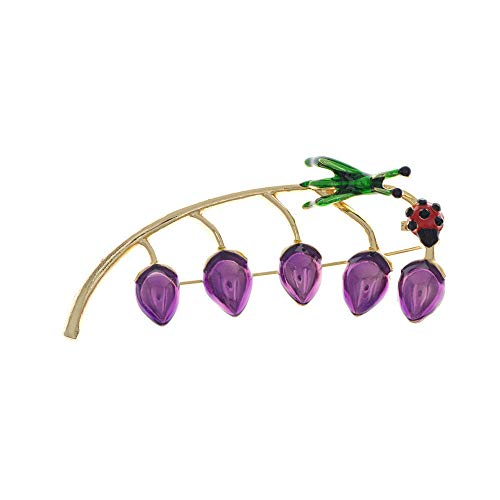 Brosche Emaille Blume und Bugs Brosche Trichter Pin lustige Design Karton Brosche 4 Farben erhältlich hohe Qualität Neue lila