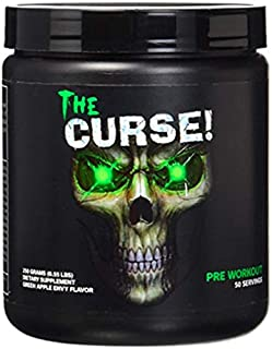 Cobra Labs The Curse Pre-Workout Supplement Green Apple Envy, 50 Servings 250 Grams(0.55 lbs)