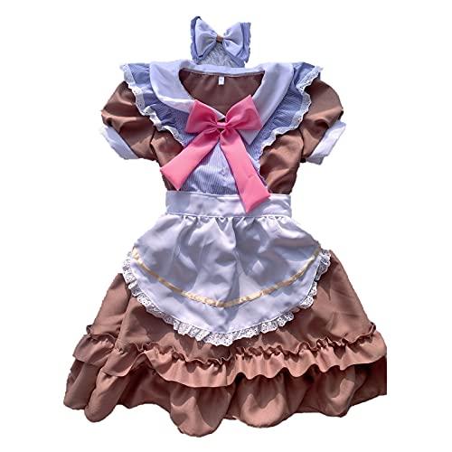 Kawaii japanische süße Lolita Kleid Dienstmädchen Uniform op Restaurant Café Dienstmädchen Schürze Kleid Anzüge Cosplay Kostüm für Erwachsene