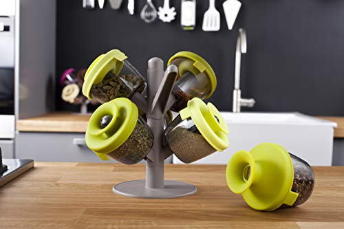 Tomorrow's kitchen popsome set de 6 -2843660- Arbol dispensador para especias y hierbas, color verde