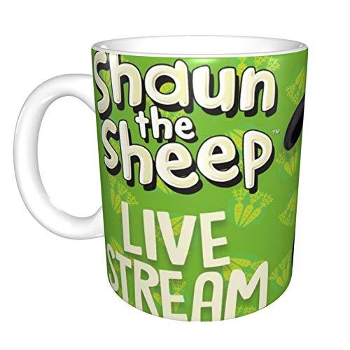 Taza de café Sean The Sheep para capuchino, café con leche o...