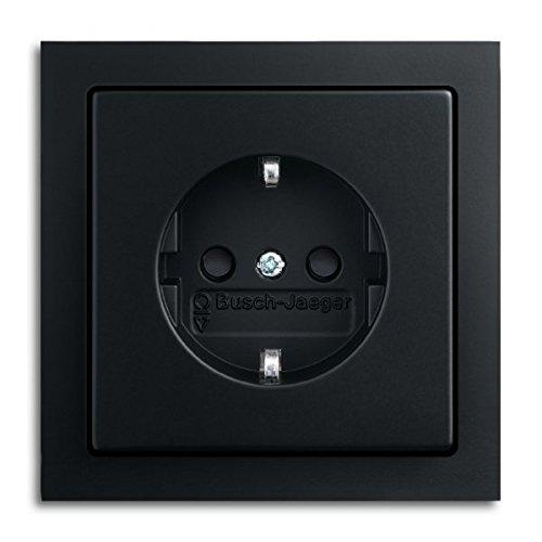 Busch--Jaeger. Komplett-Sets Future® linear Anthrazit glänzend (1x Steckdose, 1x Rahmen 1fach)