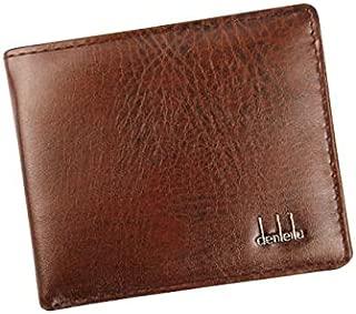 Men Bifold Business Leather Wallet Id Credit Card Holder Purse Pockets Bk - HHmei Men's Leather Wallet Black  Backpacks Hobo Satchels Top-Handle Totes Wristlets Shops Plus-Size Intimates 2019 (B)