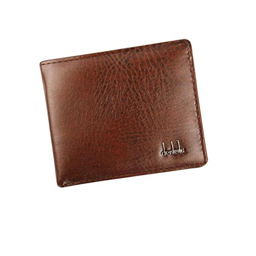 Xchenda Mens Leather Business Wallet ID Credit Card Holder Purse Pockets, Slim Bifold Wallet RFID Blocking Minimalist Front Pocket Wallets for Men Thin & Stylish