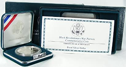 1998 Proof Black Revolutionary War Patriots Commemorative Silver Dollar w/Box