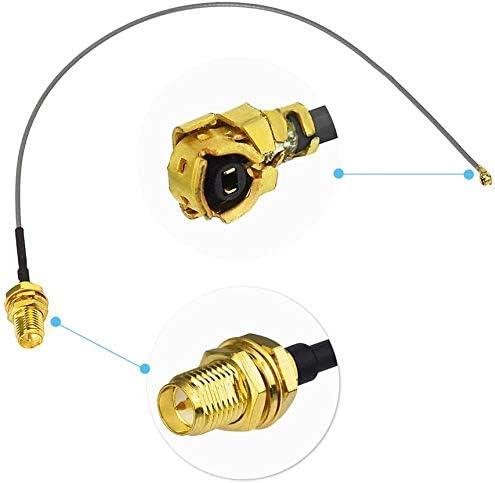 Eightwood Dab + Antena ISO Hembra para Acoplamiento DIN Am/FM Amplificador de Antena de señal Masculina Dab Antena de Radio Splitter para Antena de ...