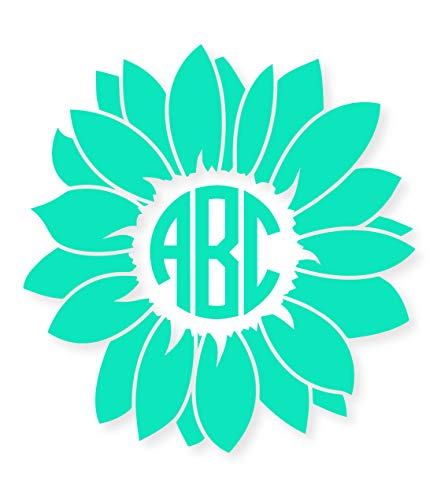 Eggleston Design Co Custom Personalized Circle Flower Monogram...