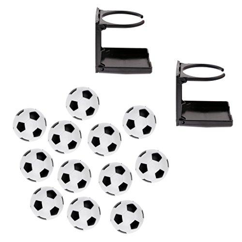 sharprepublic Portavasos Plegables de 2 Piezas con 12 Pelotas de Fútbol de para Futbolín