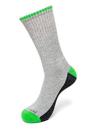 Insect Shield Sport Crew Sock, Grey Heather, Medium (9-11)