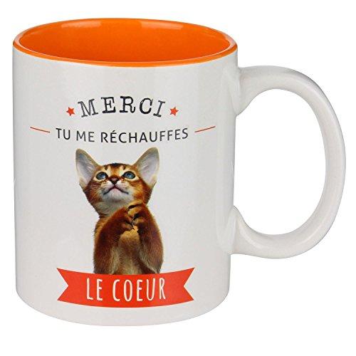 Saveur & Dégustation CMP, mug Chat Orange