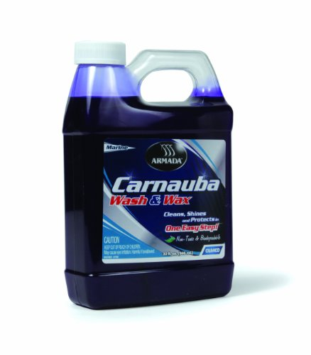 Camco Armada Marine Wash & Wax Cleaner - Clean, Shine and Protect, Your Boat or Vehicle in One Easy Step | Contains 100% Carnauba Wax - 32 oz. (40922)