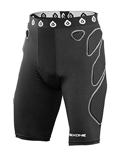 SIXSIXONE Herren Funktionelle Protektorenunterhose EXO Shorts, Black, S