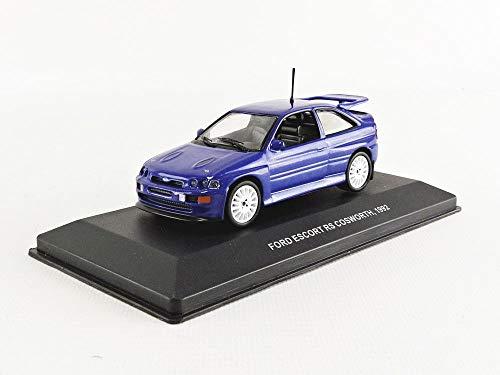 Solido S4303700 421436480-1:43 Ford Escort RS Cosworth, Modellauto, Modellfahrzeug, blau
