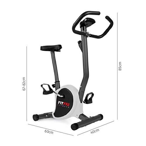 Fitfiu Fitness GRIS Fitfiu BEST-100 Vélo d'exercice pliable avec volant de 5kg Adulte unisexe,...