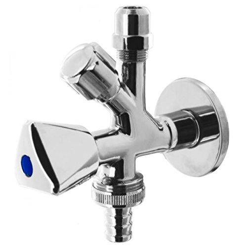 WAS-Ventil Kombieckventil Geräteventil Anschlussventil für Waschmaschine und Spülmaschine PN16 1/2