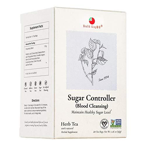 Health King Sugar Controller Herb Tea, Herbal Tea, Teabags, 20 Count Box, sugar balance, functional medicinal herb tea