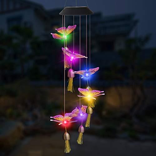 Lixada 2021 Solarleuchten Windspiele, Überraschungsgeschenk für Freundinnen Mütter Tochter, Garten hängen Spinner Lampe Farbwechsel Lichterkette Außen Dekoration Lichter