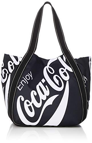 [コカ・コーラ] トートバッグ コーラ バルーントート 大容量 マザーズバッグ レディース ロゴブラック