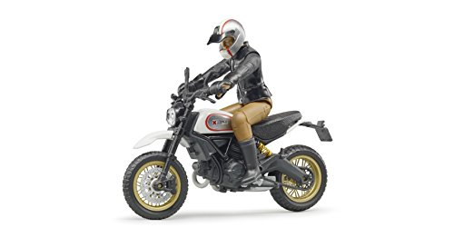 Bruder 63051 Scrambler Ducati Desert Sled mit Fahrer, Schwarz