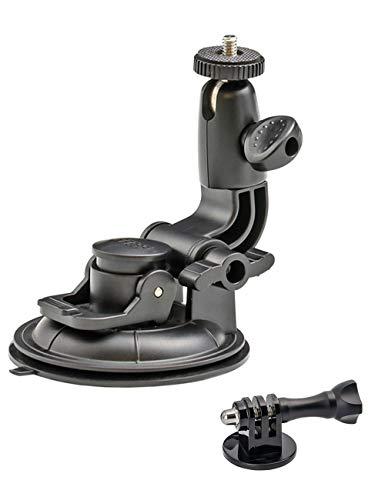 EXSHOW Kamera Auto Saugnapf Halterung für GoPro, Saugnapfhalterung mit 1/4-20 Gewinde for KFZ Windschutzscheibe, Kamera Autohalterung für GoPro Hero Session 9 8 7 6 5 4 3 3+ SJCAM Canon YICAM DSLR etc