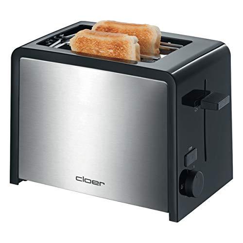 Cloer 3210 Toaster Inox 2 Tranches Contour Noir