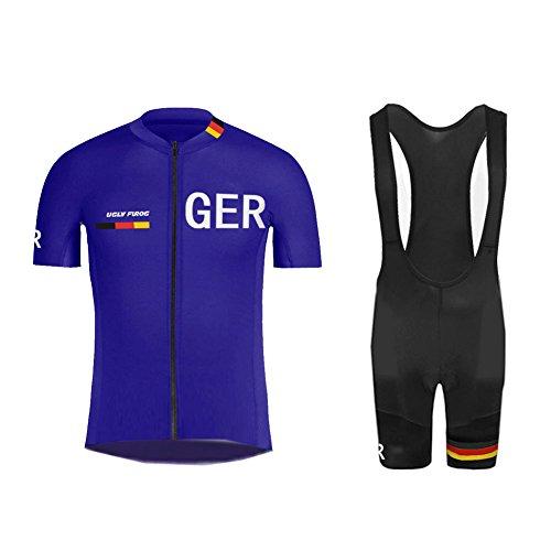Uglyfrog+ Radtrikot Herren Fahrradbekleidung Set Outdoor Sports Langarm Radkleidung + Radfahren Latzhose Shorts im Sommer