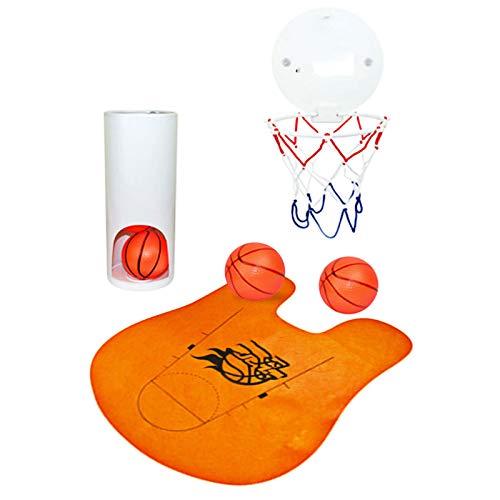 ZXWNB Toiletten Basketball Set Mit 3 Bällen Und Matte - 8-Teilig - Witziges Klo-Basketball Spiel Fürs Badezimmer Eine Vielzahl Von Dekompressionsspielzeugen Für Toiletten,C,1
