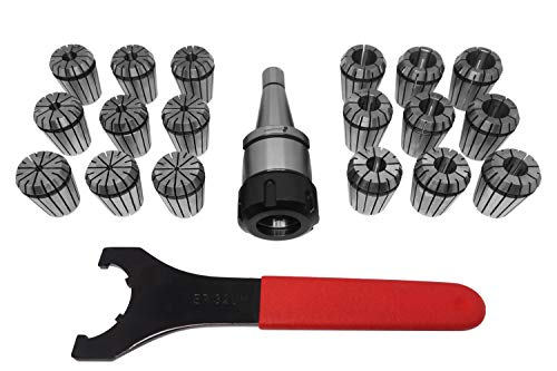 PAULIMOT ER32-Spannzangen-Set 2-20 mm SK30 (DIN 2080) / M12 im Alu-Koffer