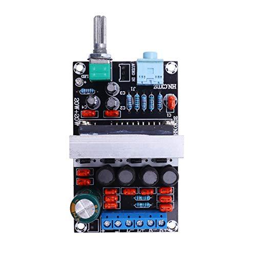 Andifany Placa Amplificadora Digital TA2020 20Wx2 Amplificador de Audio EstéReo de Doble Canal Clase T Home Theater DC12V B8-002