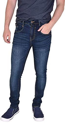 Heren Skinny Fit Jeans Western Rechte Been Broek Stretch Denim Broek