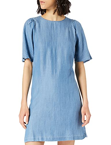 Superdry Womens Tencel Tshirt Dress, Light Wash, L