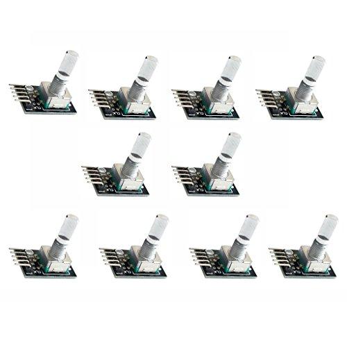 Sharplace 10x Module d'Encodeur Rotatif pour Contrôler Déplacement Angulaire pour Arduino KY-040