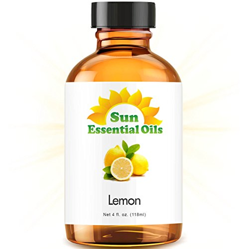 Lemon Essential Oil (Huge 4oz Bottle) Bulk Lemon Oil - 4 Ounce