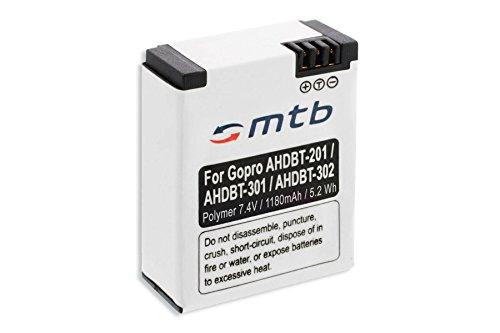 Akku für GoPro Hero3 & Hero3+ Black, White, Silver Edition - 1180mAh Polymer -