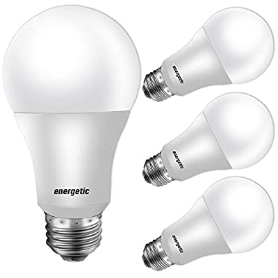 60W Equivalent, A19 LED Light Bulb, 5000K Daylight, E26 Base, Non-Dimmable, 750lm, UL Listed, 4-Pack