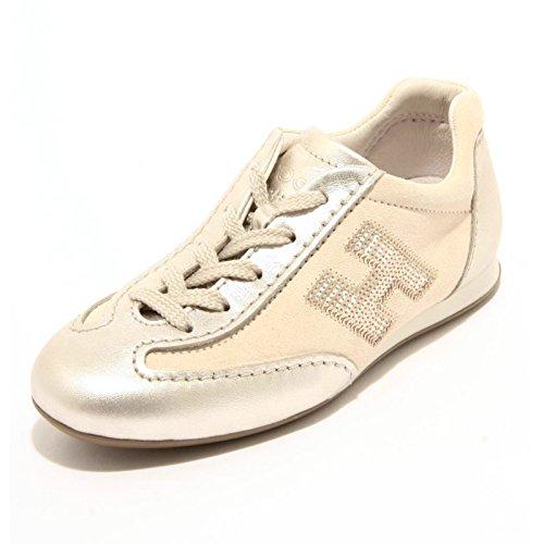 Hogan 95237 Sneaker Junior Olympia MICROPAILLETTES Scarpa Bimba Shoes [29]