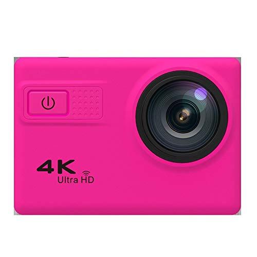 Cámara De Acción 4K Cámara Deportiva Impermeable Cámara Subacuática De 70m Recordatorio De Voz De 20MP WDR WiFi Gyro Anti-Shake 170°Gran Angular Gran Angular Kit De Fijación De Lentes ( Color : Pink )