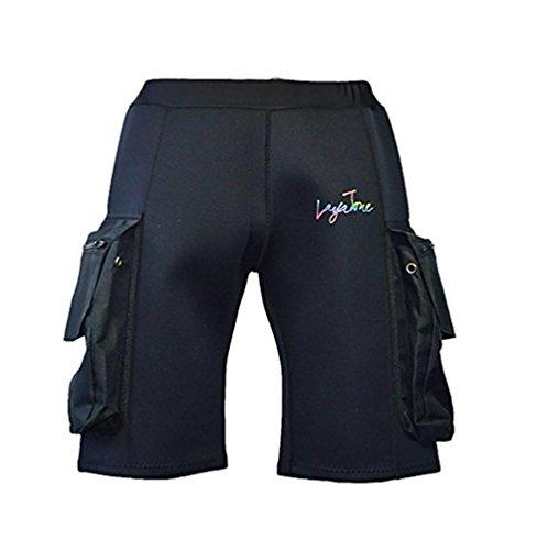 pengweiHombres Negro 3mm Neoprene Buceo Cortocircuitos con Pantalones de Traje de Surf de Bolsillo de Surf, 4XL
