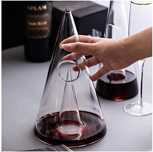 Decantador de vino de cristal hecho a mano, decantador de vinos, increíble casa de plomo de la corona libre de la corona de la corona, la torre de cristal de la torre del vino rojo del vino, el regalo