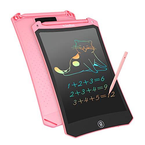 NJesBaa Tableta de Escritura LCD, 8,5 Pulgadas Colorido Dibujo Gráficos Electrónicos Pad Doodle Escritura Tablero Portátil Tableta para Niños Adulto Oficina Escuela Hogar (Rosado)