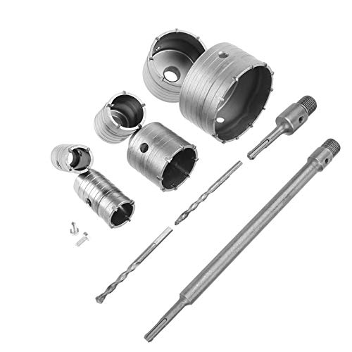 Juego de 10 coronas de sierra de hormigón para hormigón, 35, 40, 50, 65, 82 y 110 mm