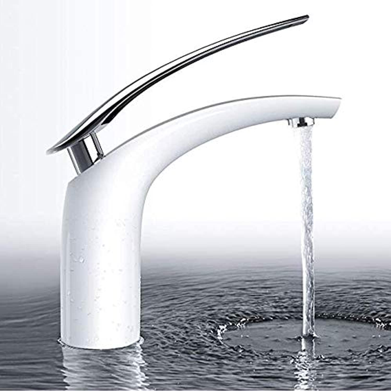 Bathroom Taps Basin Mixer Taps Bathroom Faucet Sink Tapsbasin Mixer Tap,Modern Single Lever Bathroom Sink Hot Cold Taps with Brass Faucet Body