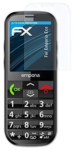 atFolix Schutzfolie kompatibel mit Emporia Eco Folie, ultraklare FX Bildschirmschutzfolie (3X)