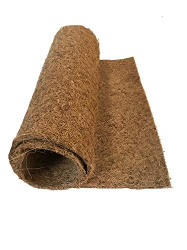 Anzuchtmatte aus 100% Kokos, 100 x 50 cm, ca. 7 mm dick, Matte geeignet zur Anzucht von z.B. Kresse und Keimsprossen (Microgreens), 100% biologisch abbaubar, Kokosmatte