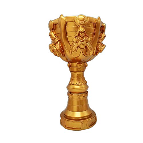 Golden Trophy Champions League Trophy LOL World Champion Memorial Trophy Decoración de Interiores E-Sports Uzi Medalla Modelo (Color : Brass, Size : 48 * 27 * 17cm)