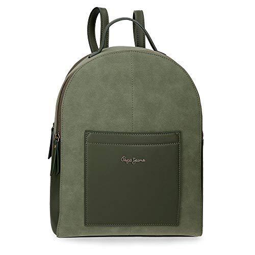 Pepe Jeans Lorain Mochila Porta Tablet, color Verde