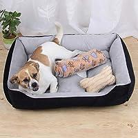 犬小屋マットソフト犬小屋子犬暖かいベッドぬいぐるみ居心地の良い巣小中大犬小屋パッド4シーズンペット用品、お手入れが簡単、変形しにくい,S 45x28.5x12cm