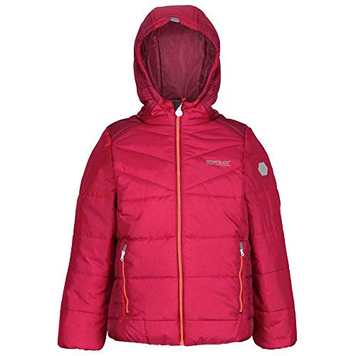 Regatta Kinder Lofthouse IV Heavyweight Fill Coat with Durable Water Repellent Finish and Thermoguard Insulation Jacke, rot, 13 Jahre