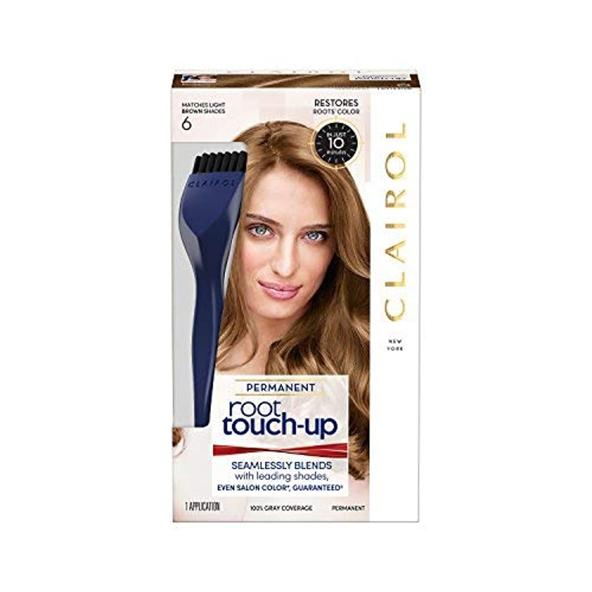 講堂スタッフ予約海外直送品 ルートタッチ Root Touch-Up - Just The Brunette Shades 6 自宅で10分?簡単ルートカラー (柔らかなライトブラウン)